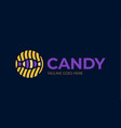 candy logo logotype for sweets shop vector image