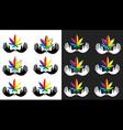 cannabis marijuana leaf peaceful dove symbol vector image vector image