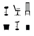 chair set in black color vector image vector image
