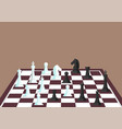chess figures on a chess board vector image
