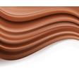 chocolate background abstract creamy brown waves vector image