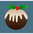 Christmas Plum Pudding vector image