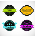 Color badges vector image vector image