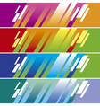 color diagonal color line banner template vector image