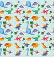dinosaur on seamless pattern vector image