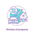 division property concept icon vector image vector image