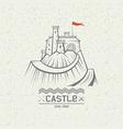 Emblem castle on a mountain vector image vector image