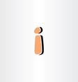 exclamation mark orange logo icon vector image