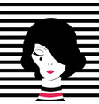fashion girl crying vector image