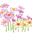 Freehand colorful flower sketch vector image vector image