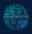 ghostwriter blue round thin line vector image
