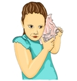 girl with shell vector image