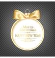 Golden christmas sphere vector image vector image