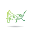 Grasshopper abstract isolated vector image vector image
