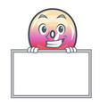 grinning with board jelly ring candy character vector image vector image