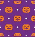 halloween tile pattern with orange pumpkin vector image vector image