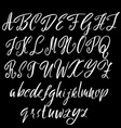hand drawn font modern brush lettering elegant vector image vector image