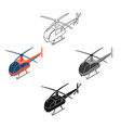 helicopter icon in cartoonblack style isolated on vector image vector image