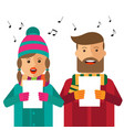 hipster carols on white background vector image