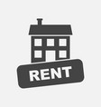 house for rent in flat style on white background vector image vector image