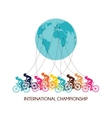international cycling race abstract poster design vector image