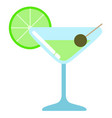 isolated cocktail icon vector image