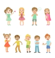 Kids With Maladies Collection vector image vector image