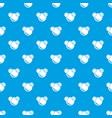 molecule reaction pattern seamless blue vector image vector image