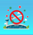 no airplane sign with airport building vector image