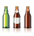 object beer bottles vector image vector image