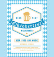 oktoberfest design template for invitation vector image vector image