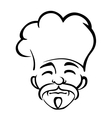 Old japanese chef with a goatee and moustache vector image vector image