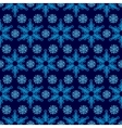 Pattern from snowflakes vector image