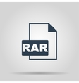 RAR Icon concept for design vector image vector image