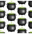 realistic detailed 3d witch cauldron seamless vector image