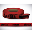 Red tape design vector image vector image