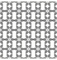 seamless crossing floral grey pattern vector image