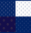 seamless marine pattern with cruise ship vector image vector image