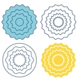 Set circle wave pattern vector image