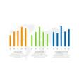set orange green and blue elements vector image