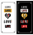 set stylish inscription love for design and vector image