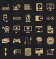 Site icons set simple style