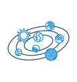 Solar system universe galaxy planets sun