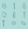 stomatology outline isometric set vector image vector image