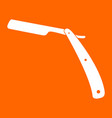 straight razor white icon vector image vector image