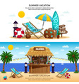 summer vacation horizontal banners vector image