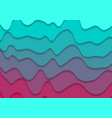 turquoise and pink corporate waves abstract vector image vector image