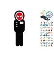 Visitor Skafandr Icon with 2017 Year Bonus Symbols vector image vector image
