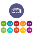 warehouse for loading icon simple style vector image vector image