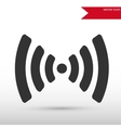 Wireless icon Flat design style vector image
